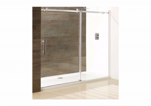 Vanguard 1700mm Slider Shower Door, 10mm Glass, Polished Silver, Optional Side - Various Sizes